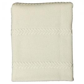 Luxe merinowollen plaid deken met kabels