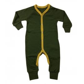Merino wollen pyjama-kruippakje groen