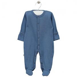 Merino wollen babypakje Diki blauw wit